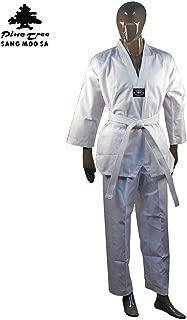 Pine Tree Sang Moo Sa 7.5 Oz White Student Taekwondo Uniform