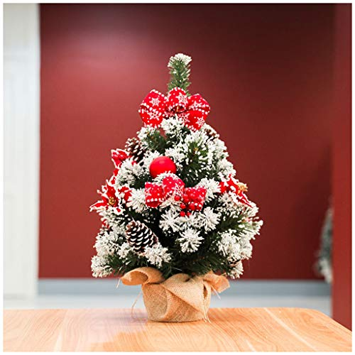 NYKK Christmas Tree Desktop Mini Artificial Christmas Tree 23.6 Inches In Three Styles With Pine Cones And Red Berries Home Room Decorations (Color : A)