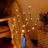 Halloween 20 Led Pumpkins Tree Light 30 Inch Tail Battery Powered DIY Craft for Halloween Autumn Indoor Tabletop Decoration