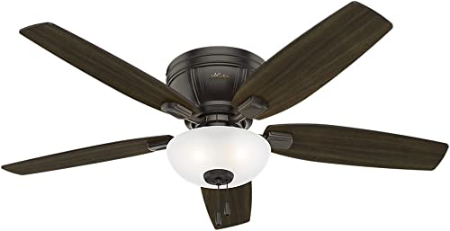 2021 Hunter Kenbridge Indoor popular Low 2021 Profile Ceiling Fan with LED Light and Pull Chain Control sale