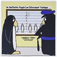 """3droseペンギン警察line-up問題–マウスパッド、8by 8"""" ( MP _ 2952_ 1)"""