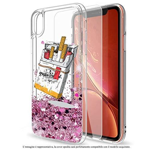 Mixroom - Custodia Cover Case con Brillantini Glitter in Gel Liquidi Quicksand per iPhone 6 Plus Fantasia Pacchetto di Sigarette Codice 299