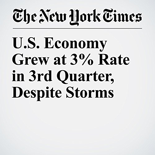 U.S. Economy Grew at 3% Rate in 3rd Quarter, Despite Storms copertina
