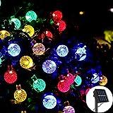 Guirlande Solaire Extérieur 30LEDs 6,5M Guirlande Lumineuse Boule 8 Modes Multicoloré Décoration Chambre Intérieur Jardin Parti Mariage