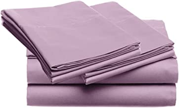 SUPER SOFT Microfiber Loft 21 Collection, QUEEN 4pc Sheet Set, 3-LOF21S-350, Solid PURPLE
