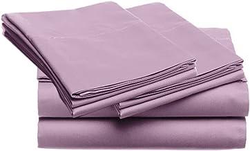 SUPER SOFT Microfiber Loft 21 Collection, KING 4pc Sheet Set, 2-LOF21S-350, Solid PURPLE
