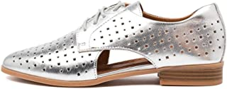 Hush Puppies Fiji Silver Leather Womens Shoes Flats Shoes