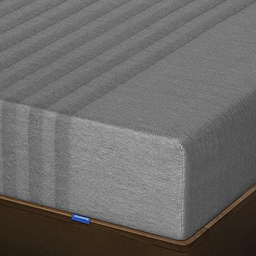 Newentor® Matratze 100x200 Memoryschaum Matratze, Komfortschaummatratze 22 cm hoch, 3 in 1 Härtegrad H2 & H3 & H5 Orthopädische 7 Zonen Matratze, Kokoskohle Bezug Waschbar