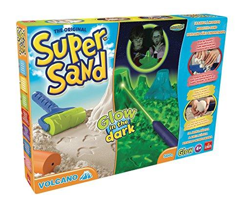 Goliath 83266 | Super-Sand-Set Glow-Vulcano | baue Deinen im Dunkeln leuchtenden Vulkan fürs Kinderzimmer mit Spiel-Sand | lass die Dino-Welt wieder auferstehen | ab 4 Jahren