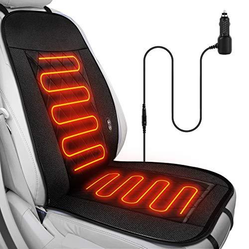 Auto Heizkissen ,Wilktop Sitzauflage mit Massage- und Heizfunktion, drahtlose Steuerung Massagesitz 12V,Beheizte Sitzauflage