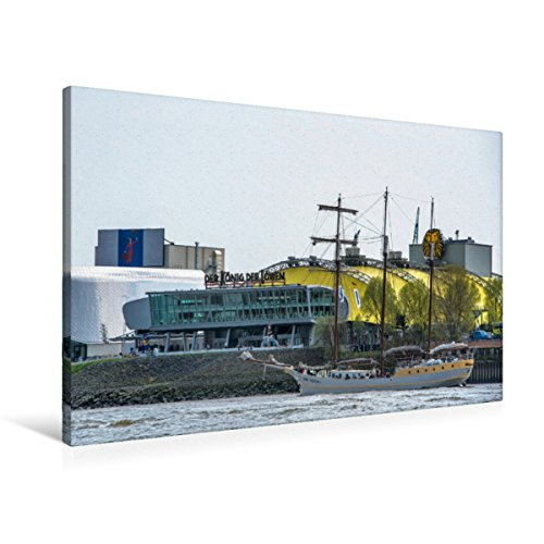 Premium Textil-Leinwand 90 x 60 cm Quer-Format Theater am Hafen | Wandbild, HD-Bild auf Keilrahmen, Fertigbild auf hochwertigem Vlies, Leinwanddruck von Gabriele Krug