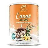 Bebida de arroz con cacao y vainilla en polvo Bio 250g. 250g | Hace 2,5 l de deliciosa leche vegetal orgánica | Vegetariana y vegana.