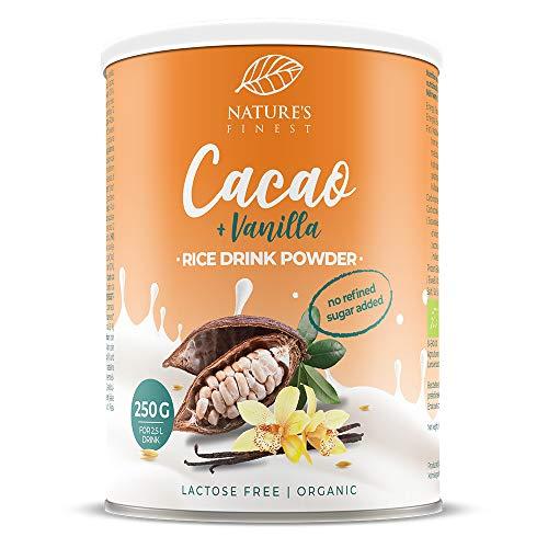 Bio Rice Drink Cacao & Vanilla Powder 250g | Makes 2,5 l of Delicious Organic Plant Milk | Vegan and Vegetarian Friendly