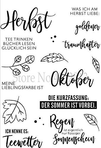 Deutsche Wörter Transparent klarerSilikonstempel/ Siegel für DIY Scrapbooking/Fotoalbum Dekorative klare StempelA1523