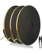 RATEL Tira de Sellado Junta 6 mm (W) * 3 mm (H) * 18 m (L) con Tijeras * 1, Tiras de Sellado Autoadhesivas Prova di collisione y Aislamiento Acústico para Grietas y Espacios (Negro)