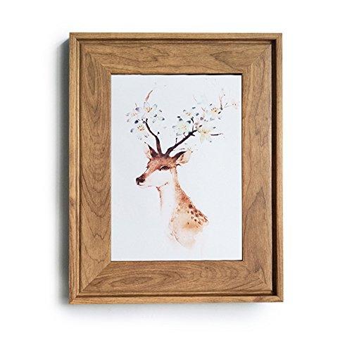 HUIXIANG Bilderrahmen 13x18 Vintage Fotorahmen Retro Bilderrahmen Rustikal für Foto 13x18cm Kann Aufgehängt Oder Tischplatte Geschenk für Hochzeit Jahrestag Freunde Geburtstagsgeschenk Holzfarbe