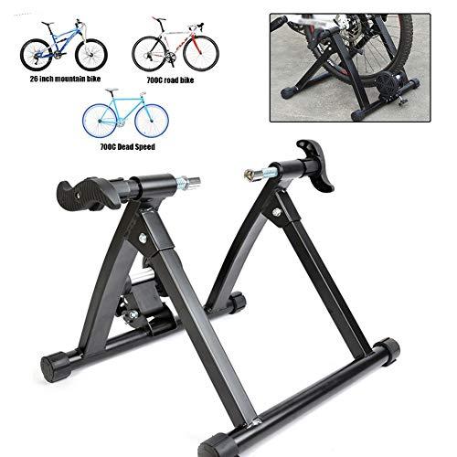 SJASD Rodillo Bicicleta Montaña, Plegable Ciclismo Turbo Trainer, Entrenador De Bicicleta De Ejercicio Interior Entrenamiento Resistencia