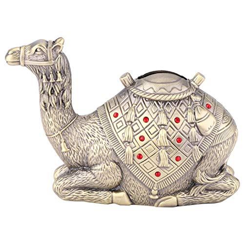 Pssopp Caja de Ahorro de Dinero Artesanal con Forma de Camello, Caja de Ahorro de Metal para decoración del hogar, Regalos de cumpleaños