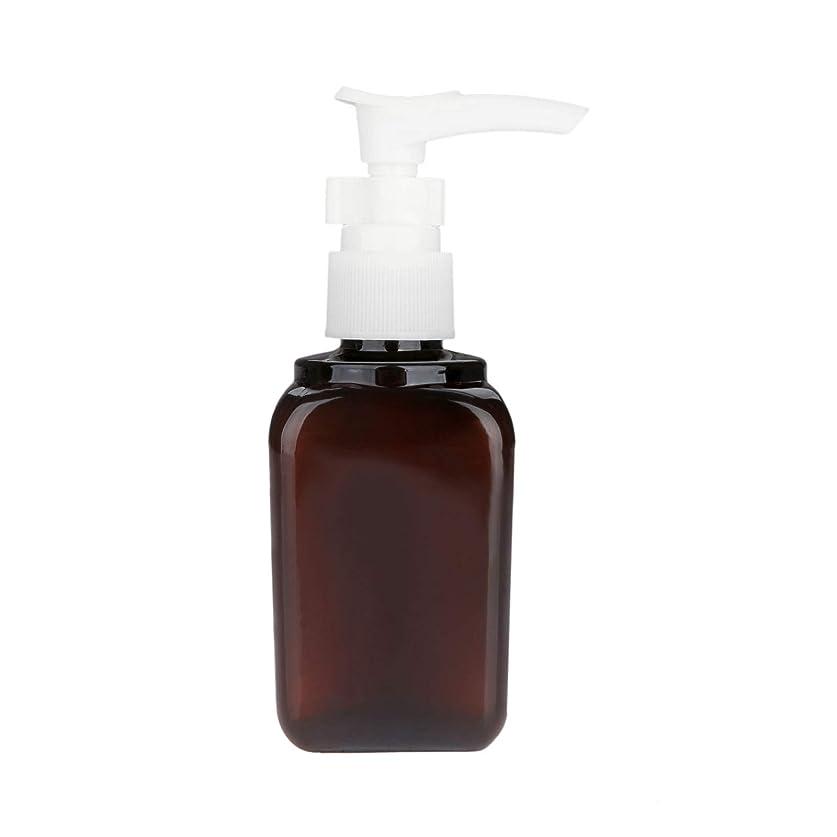 狂う脚本トレッド10本 押し式ボトル ポンプ瓶 ポンプボトル 遮光瓶 ドロップポンプ 泡立て 詰め替え シャンプーハンドソープ 茶色 PET製