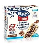 Hero Light barrette ai cereali e cioccolato, 10 confezioni da 6 barrette X 20 gr, senza olio di palma, zero conservanti, zero coloranti, senza zuccheri aggiunti - 1200gr