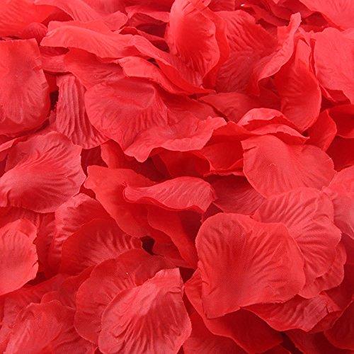 200 stücke Burgund Silk Rose Valentinstag Romantisch Zubehör Badewanne Künstliche Blütenblätter Hochzeit Party Favors Decor (C)