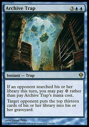 Magic The Gathering - Archive Trap (41) - Zendikar - Foil