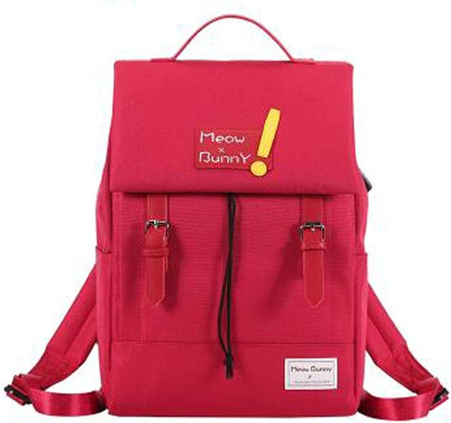 HENG College Student Bag, Versatile LargeCapacity College Student Computer Bag, Fashion Leisure Travel & Hiking Backpack for Hiking, Traveling & Camping (color   Red)
