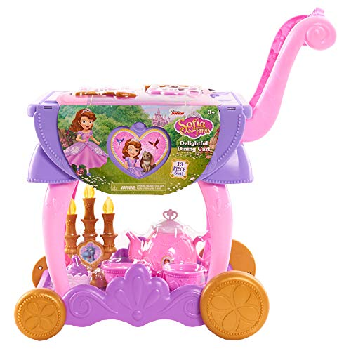Sofia the First Delightful Dining Cart, Kids Tea Set with Pretend Play Food, by Just Play