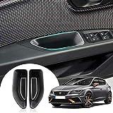 LFOTPP Kompatibel mit Seat Leon MK3, Auto Vorderseite Türgriff Armlehne Aufbewahrungsbox Container 2 Stück