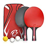 Weeygo Set de Tennis de Table Mixte Adulte Rouge Taille S