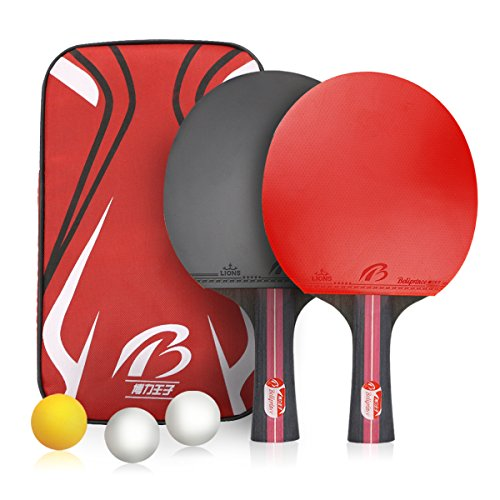Weeygo Set de Tennis de Table Mixte Adulte Rouge...