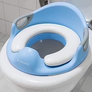Conception Antid/érapants R/éducteur de WC ergonomique Ruikey R/éducteur de Toilette pour enfants Blanc Si/ège De Toilette Pour B/éb/é Avec Coussin Poign/ée Dossier