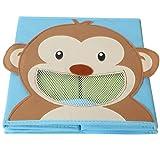 4 Stück TE-Trend Textil Faltbox Spielbox Tiermotive Frosch Affe Eule Kuh Aufbewahrung Truhe für Spielzeug faltbar 28 x 28 x 28 cm - 9