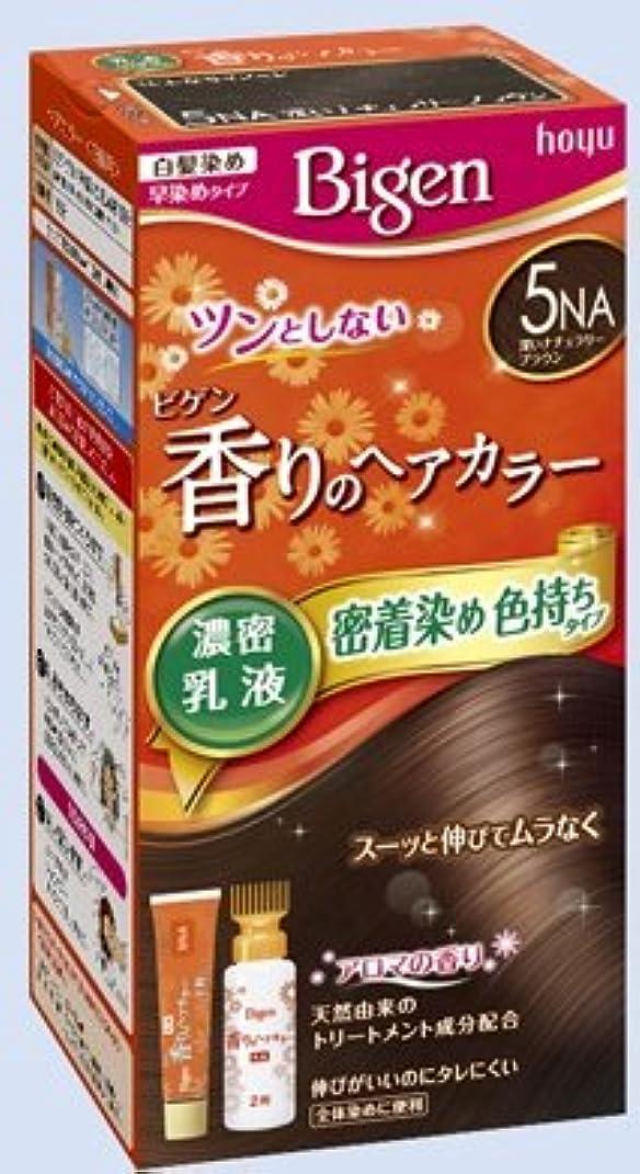 緊急求人凝縮するビゲン 香りのヘアカラー 乳液 5NA 深いナチュラリーブラウン × 27個セット