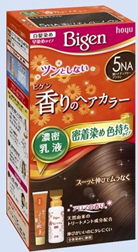 起こりやすい課す因子ビゲン 香りのヘアカラー 乳液 5NA 深いナチュラリーブラウン × 27個セット