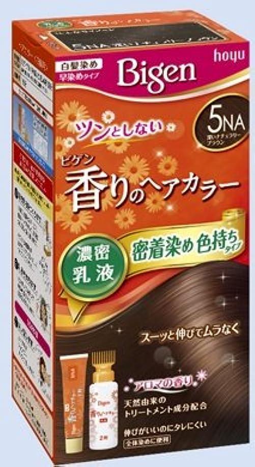 自伝ショット残高ビゲン 香りのヘアカラー 乳液 5NA 深いナチュラリーブラウン × 27個セット