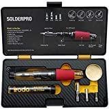 Iroda Solderpro 50K Cordless Soldering Iron Kit, 4-in-1 Portable, Heat Shrink, Hot Knife, Butane Soldering Iron Torch, Perfect for Hobbyists, 18 Second Heat Up, 40 Mins Run Time Butane Not Included