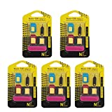 SIM Karten Adapter 5 in 1 Nano Micro Standard SIM Karten Card Adapter Set Kit 5er Pack/Fünferpack...