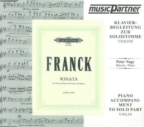 Sonate A-Dur für Violine und Klavier : CD mit der Begleitung zur Solostimme