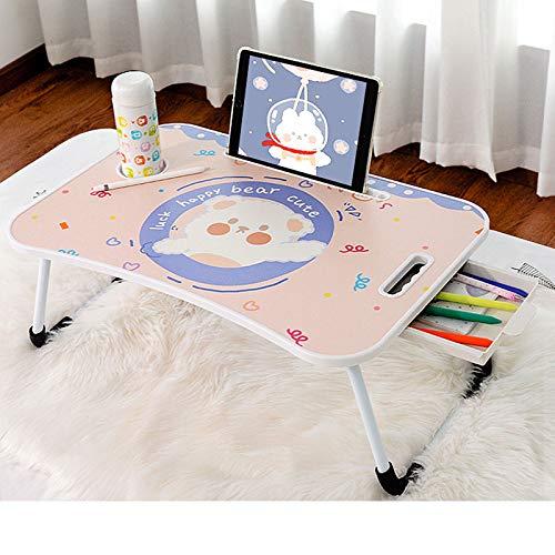 YIXIN2013SHOP Mesa Ordenador Portatil Dormitorio Beddtable Breakfast Mese Home Office Lap Laptop Desk Desk Dormitorio Mini Escritorio Escritorio del Regazo (Color : A)