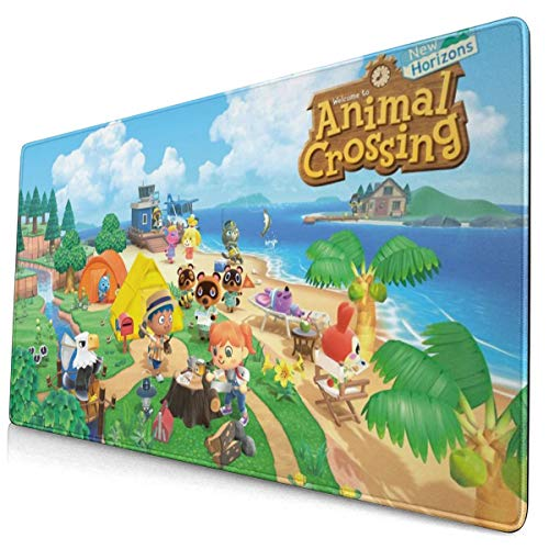 Animal Cute Characters Crossing Mouse Pad Extended Gaming Long XXL Mousepad (29.5x15.8In) for Desktop, Laptop, Keyboard