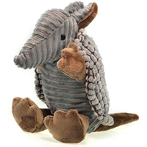 Aviling Plush Pet Toys Interactive Toy Squeaky Plush Dog Toy Pack for Puppy for Small Medium Size Dogs Armadillo