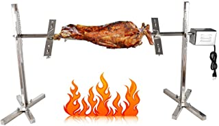 MONIPA Grill Rotisserie Spit Roaster 15W Motor 70KGF Stainless Steel Pig Chicken Grill Electric Rotisserie Roaster for Rod Charcoal Barbecue Pig Chicken Lamb Cooker Grill Motor BBQ Bar Camping Picnic