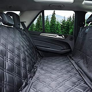 Bulldogology Dog Car Seat Covers 100% Waterproof Hammock Car Seat Cover for Pets - Heavy Duty Scratch Durability, Nonslip ...