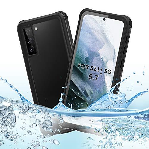 BDIG Custodia Impermeabile Samsung Galaxy S21 Plus, IP68 Certificato Waterproof Cover Slim Antiurto Antineve Antipolvere AntiGraffio Subacquea Caso Full Protezione Impermeabile Custodia per S21 Plus