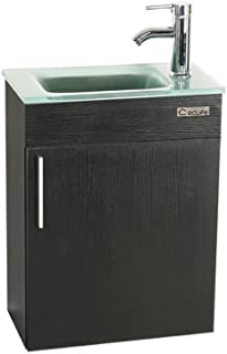 Eclife 18 4 Bathroom Vanity Combo Modern Design Wall Mounted Vanity Set With Terpered