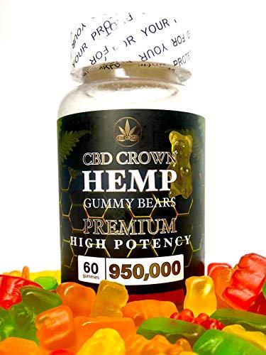 CBD CROWN Hemp Gummy Bears PREMIUM 950,000mg 60粒 FDA ヘンプグミ