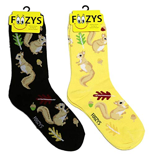 Foozys Damen Crew Socken |Eichhörnchen Tierthema Neuheit Socken |2 Paar