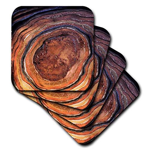 Zestaw 8 podstawek na napoje drewno chłonne napoje podstawka obraz brązowej miedzianej metalowej folii brokatowej marmur moda agat ochrona mebli dekoracja do domu kuchni baru na parapetówkę prezenty 8 sztuk