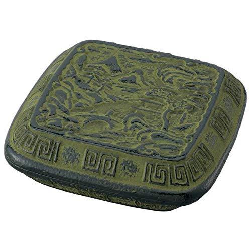 贈り物や記念品に。 高級美術鉄器(練朱肉) 南部鉄器 山水 NT-3G 〈簡易梱包
